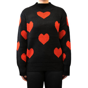 west carolina hearts printed jumper front
