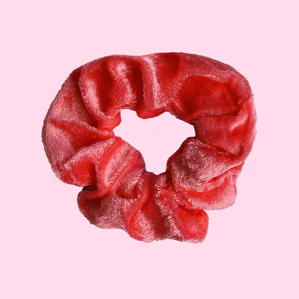 West Carolina Velvet Candy Apple Red Scrunchies Hair Accessories Fashion Comfortable Easy Wear Girls Women Hair Tie