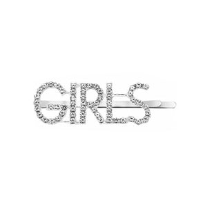 West Carolina GIRLS Embellished Hair Clips for Women Fashion Vintage Hairpins  Rhinestone Text Inspired Instagrammable Instagram