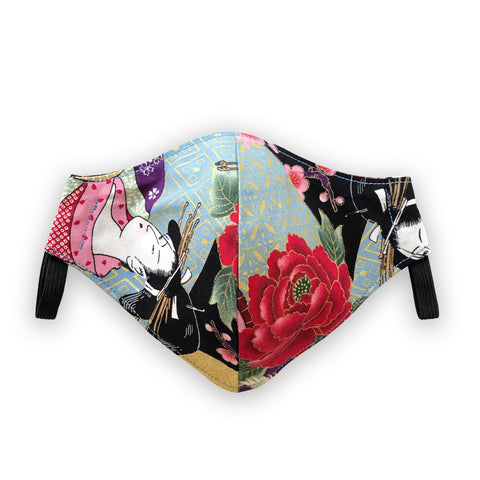 west carolina london japanese printed face mask for corona virus covid mask, trendy face mask, fashion face mask