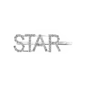 West Carolina STAR Embellished Hair Clips for Women Fashion Vintage Hairpins Design Rhinestone Text Inspired Instagrammable Instagram