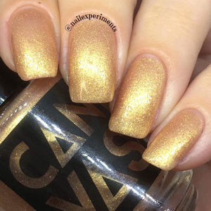 "5-Free Nail Polish ""King Midas"" by Canvas Lacquer"