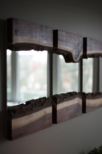 Live edge river mirrors