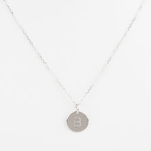 Mini Initials Charm Necklace - Letter B