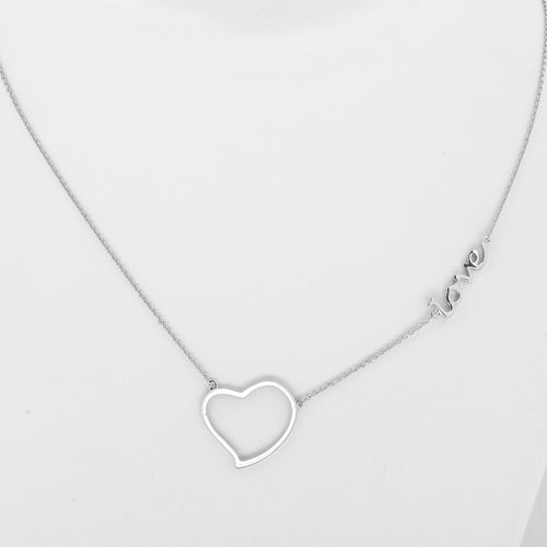 Heart and  Love Fashion Inspirational Necklace