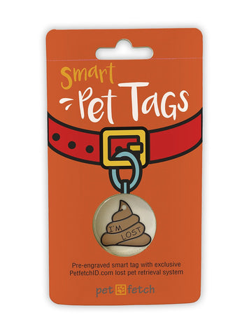 Emoji Pet Tag - Poop I'm Lost