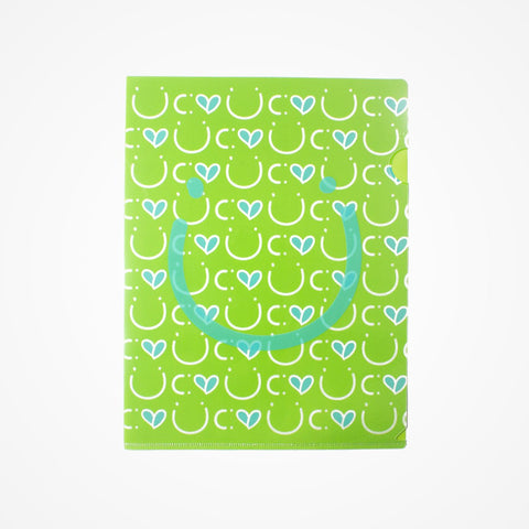 Stationary Plastic Folder Green - biglove