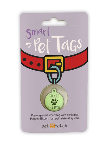 Fun Pet Tag - Talk to the Paw