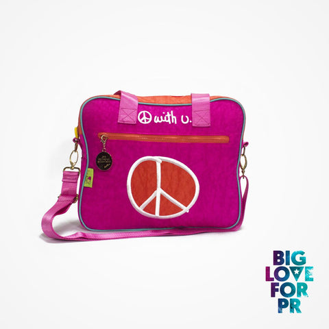 Biglove Multi-Functional One Shoulder Bag - Peace / Pink