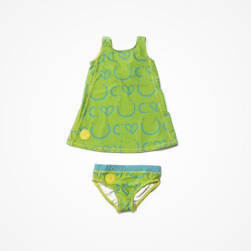 Biglove Swim Dress & Pantie | Green | Happy