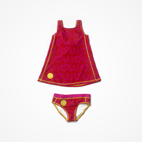 Biglove Swim Dress & Pantie | Red | Love