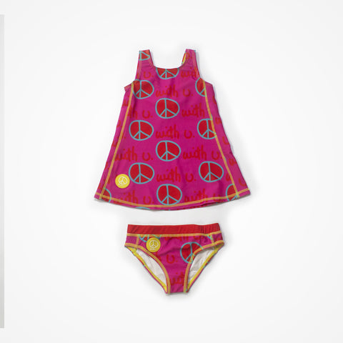 Biglove Swim Dress & Pantie | Pink | Peace
