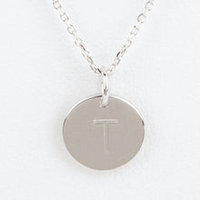 Mini Initials Charm Necklace - Letter T