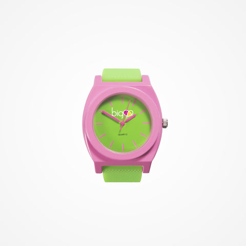 Biglove Watch Green | Pink