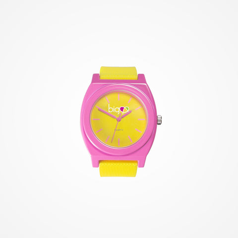 Biglove Watch Yellow | Pink