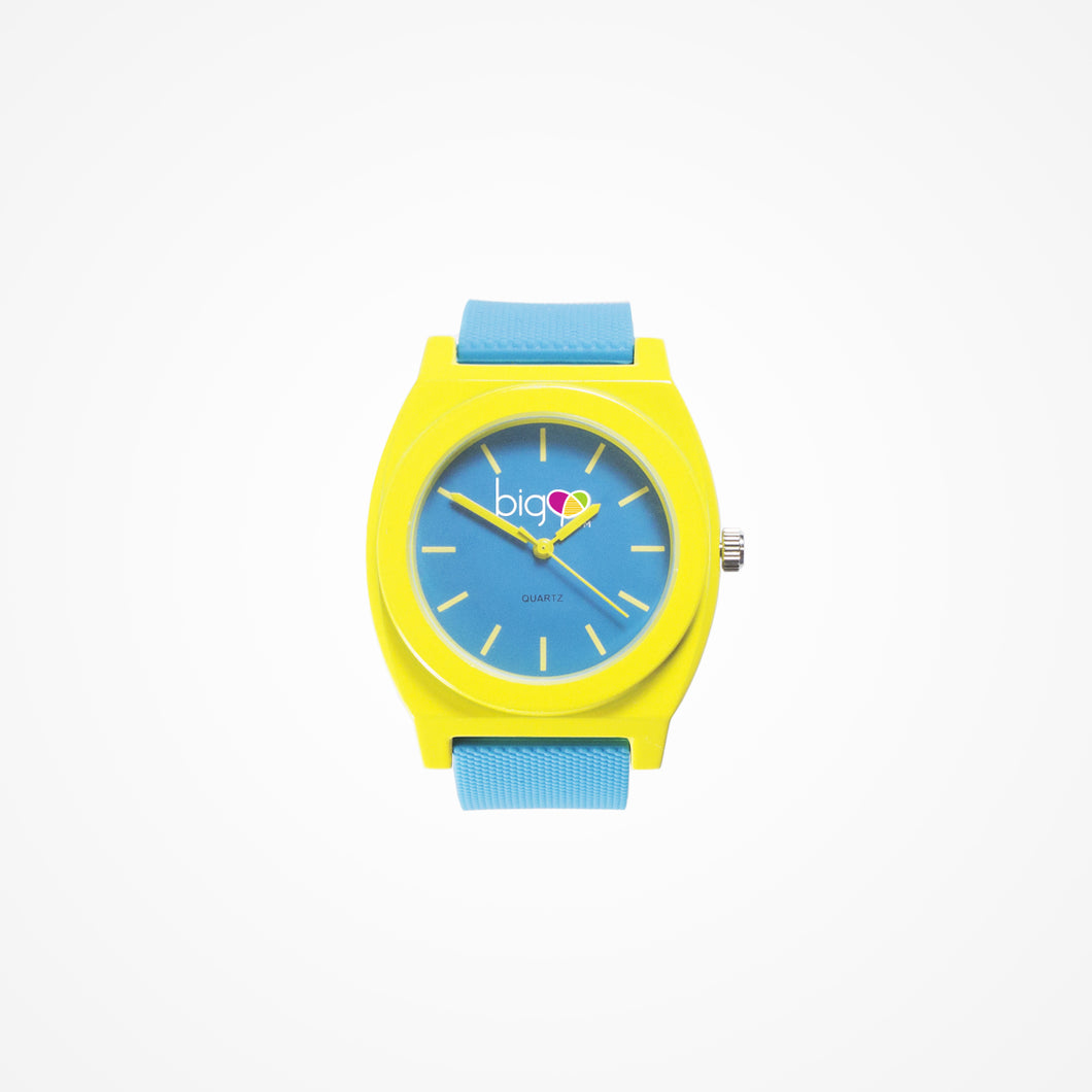 Biglove Watch Blue | Yellow