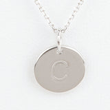 Mini Initials Charm Necklace - Letter C
