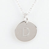 Mini Initials Charm Necklace - Letter D