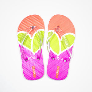 Printed Rubber Flip Flops for Kids Freedom | Green