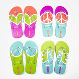 Printed Rubber Flip Flops for Kids Peace | Pink