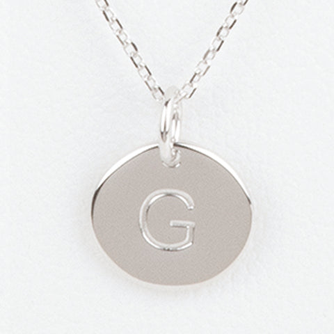 Mini Initials Charm Necklace - Letter G