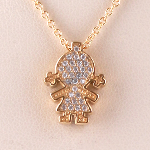 Girl Charm/Chain S Steel Yellow