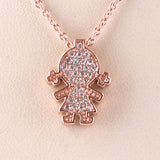 Girl Charm/Chain S Steel Rose