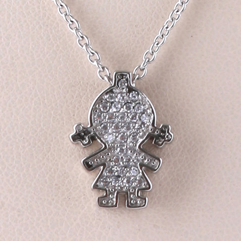 Girl Charm/Chain S Steel White