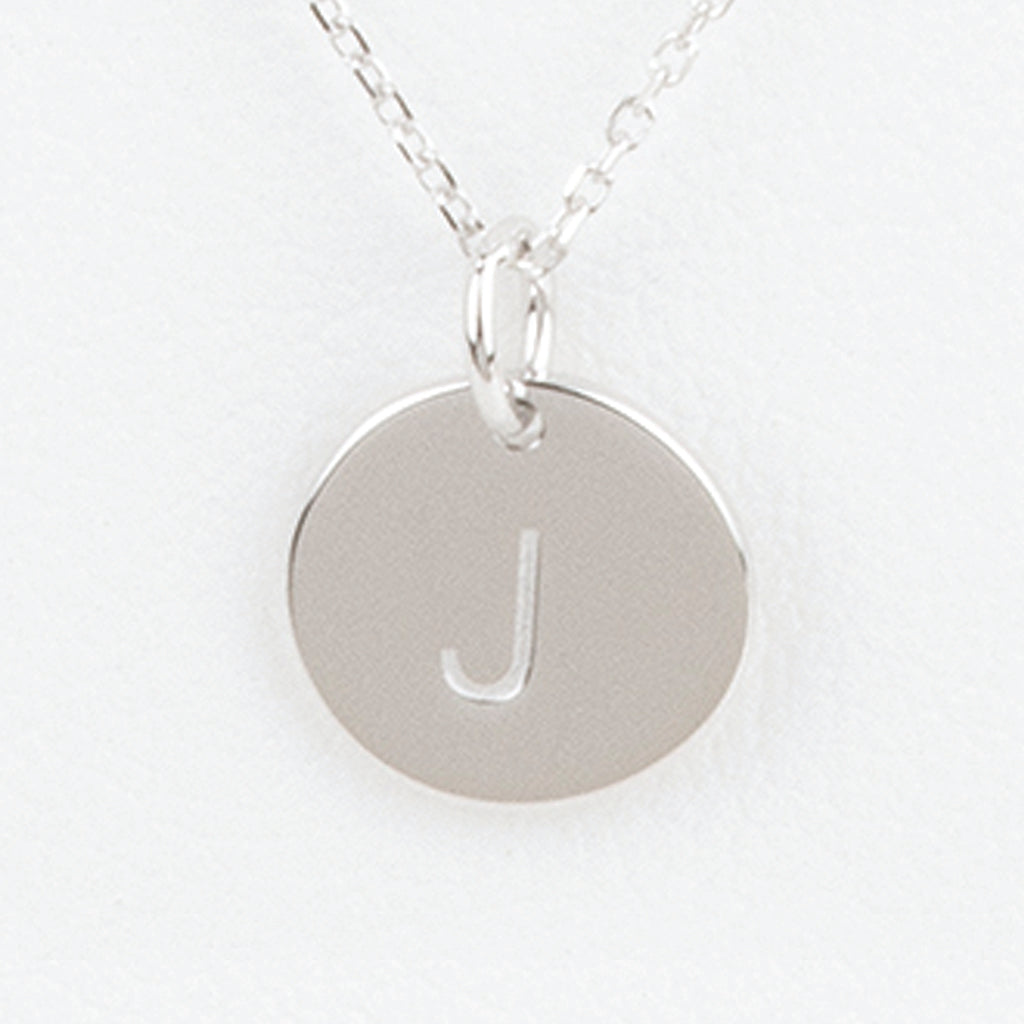 Mini Initials Charm Necklace - Letter J