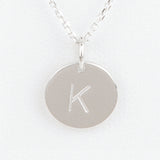 Mini Initials Charm Necklace - Letter K