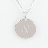 Mini Initials Charm Necklace - Letter N