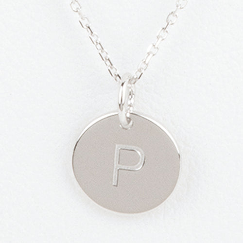 Mini Initials Charm Necklace - Letter P