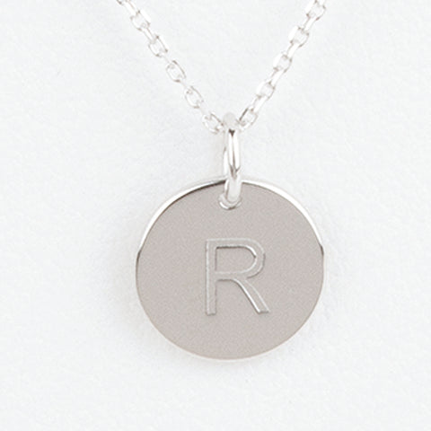 Mini Initials Charm Necklace - Letter R