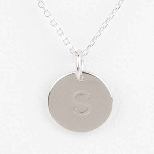 Mini Initials Charm Necklace - Letter S