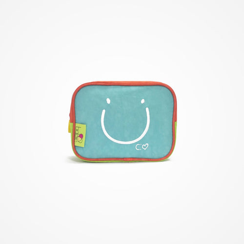 Small Square Accessory Bag | Blue - biglove