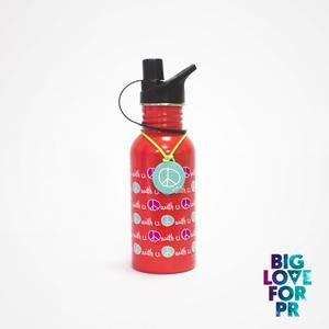 Biglove Water Bottle - Peace / Red