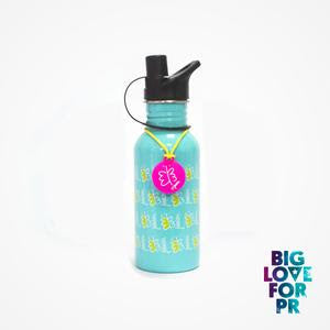 Biglove Water Bottle - Butterflies / Aqua