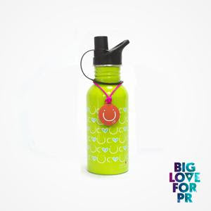 Biglove Water Bottle - Happiness / Green