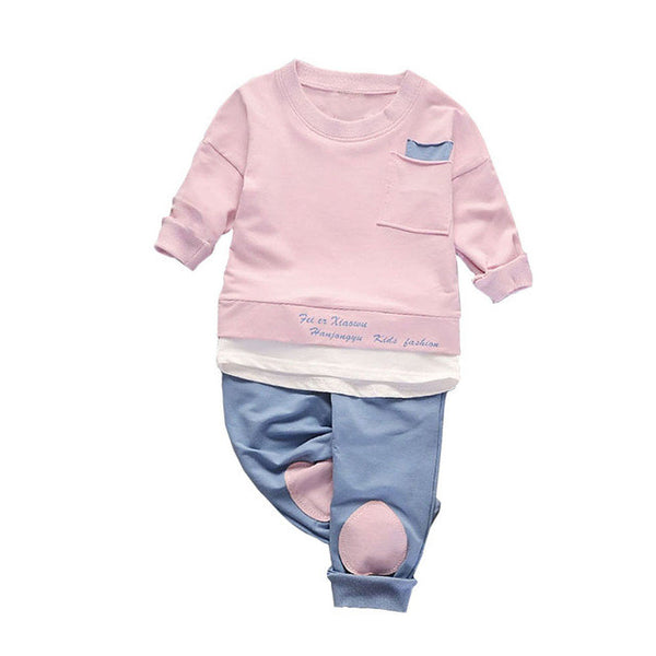 ... 2PCS Colorful Long Sleeve T-shirt with Trousers Outfit, Clothing, Boys,  Toddler ...