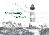 Lowcountry Sketches logo of Morris Island Lighthouse