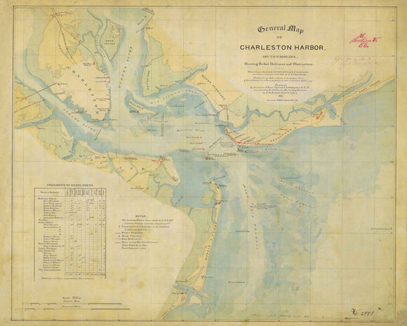 General Map of Charleston Harbor, 1865