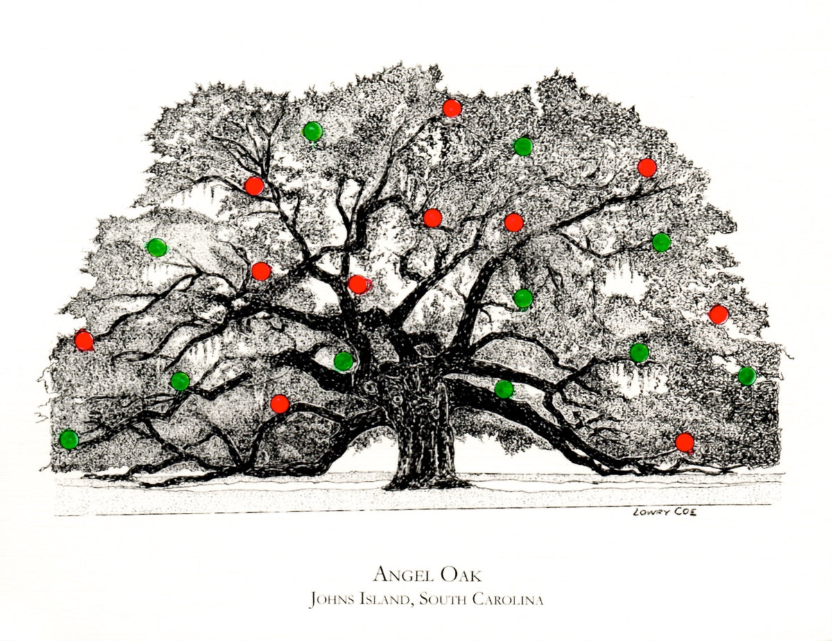 Angel Oak Christmas Card
