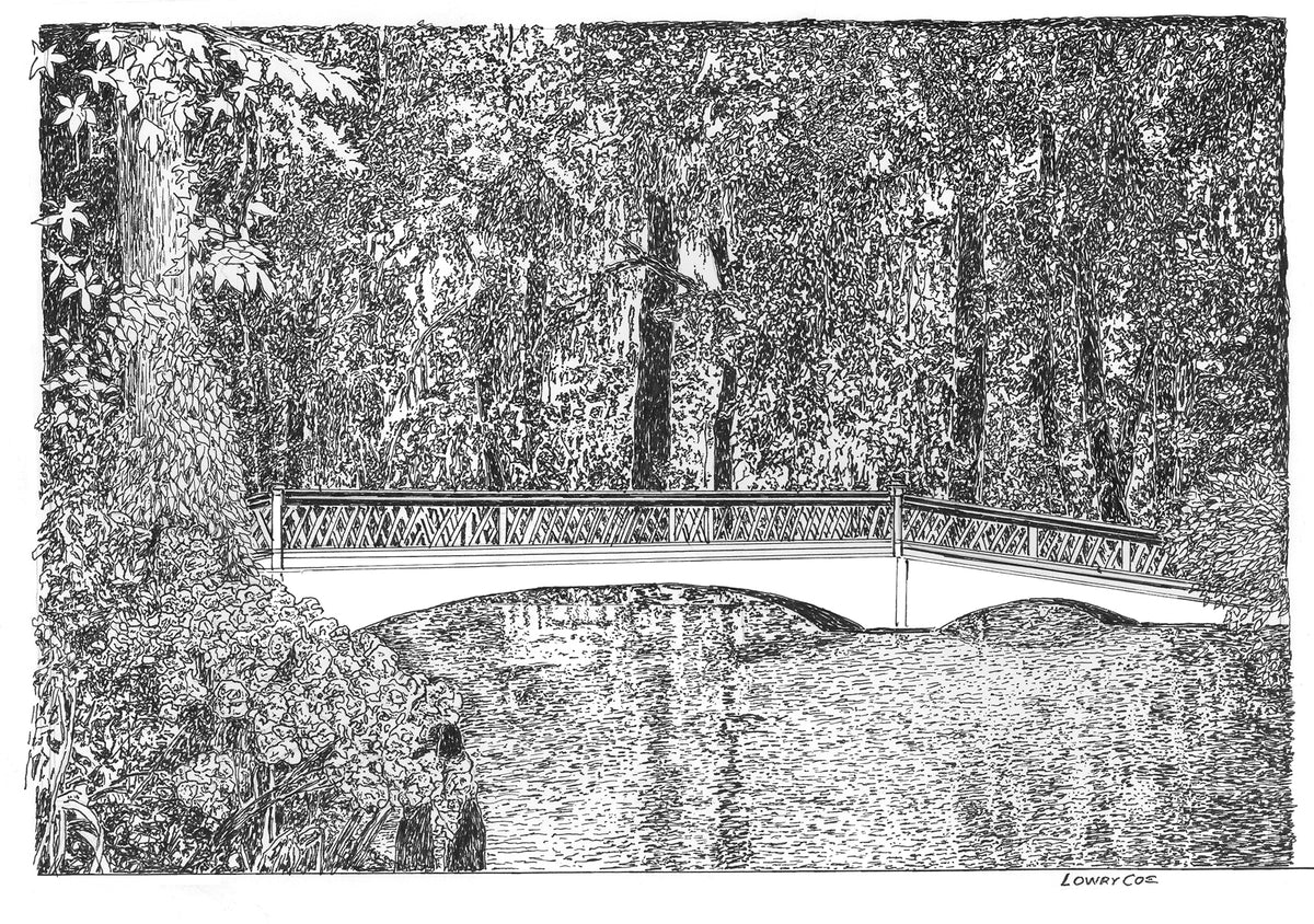 Magnolia Plantation Gardens Bridge Notecards