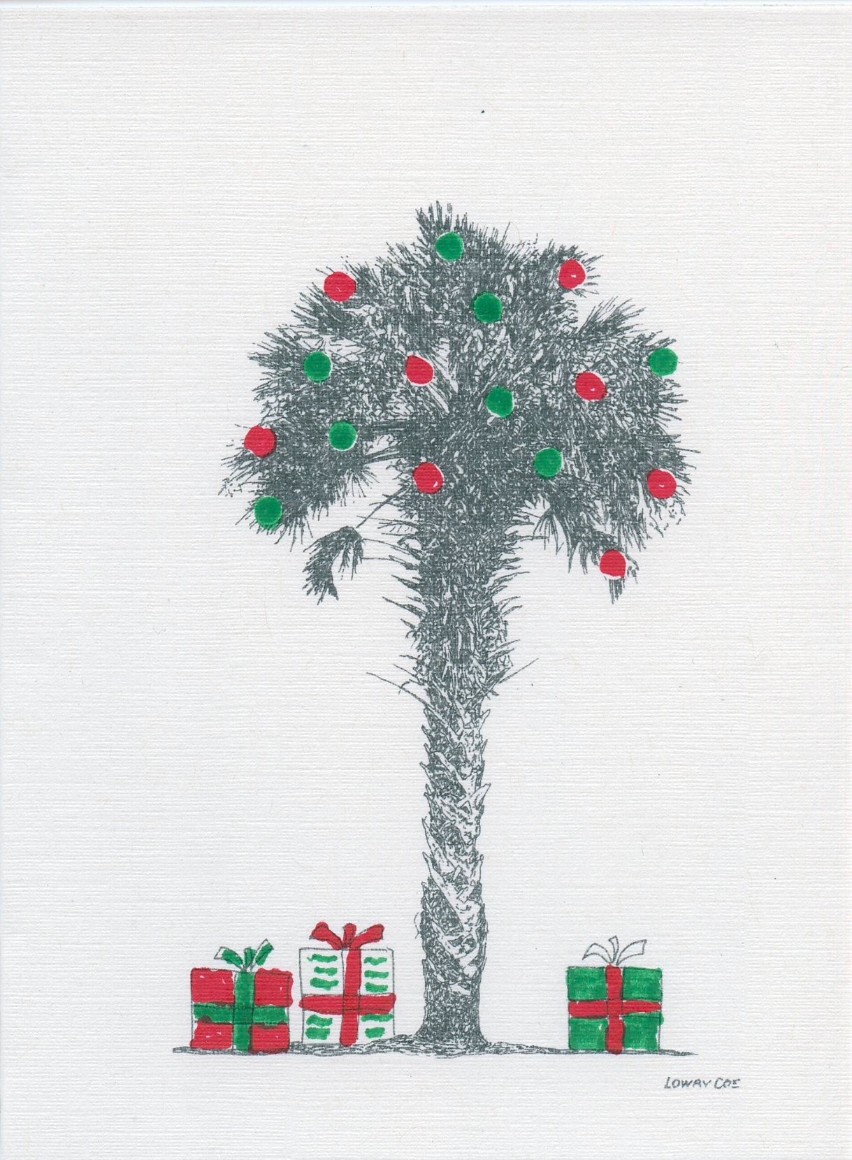Palmetto Tree with gifts