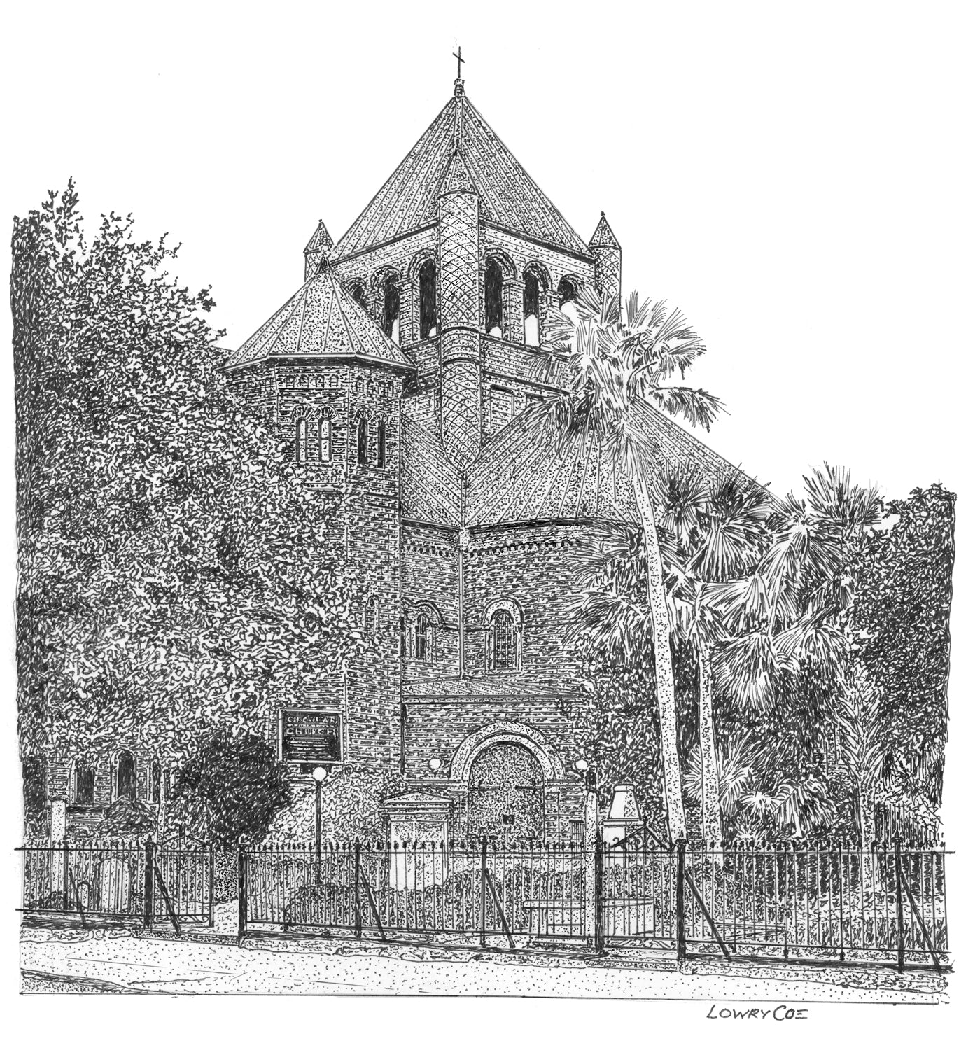 Circular Congregational Church sketch