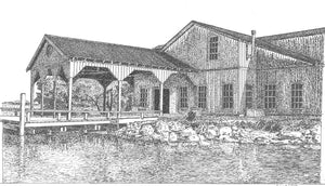 Cotton Dock at Boone Hall Notecard
