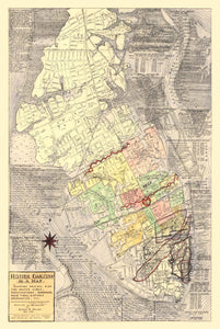 1946 Halsey Map of Charleston - Charleston History on a Map