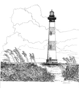 Morris Island Lighthouse Print