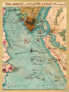 1864 Rebel Defences of Charleston Harbor, SC