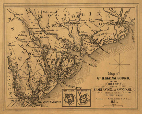 St. Helena Sound and Surrounding Areas, 1861
